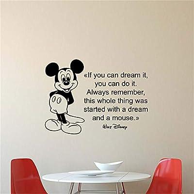 pegatina de pared pegatina de pared frases Mickey Minnie Mouse ...
