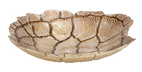 - Deco 79 Glass Turtle Bowl, 13 by 3-Inch