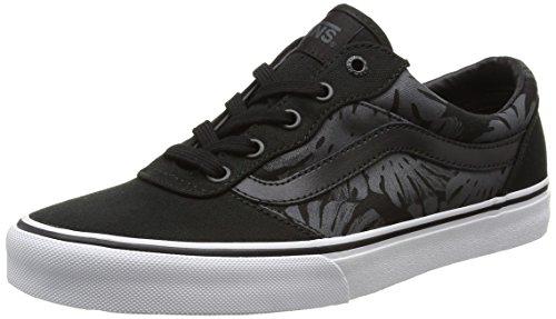 Vans MILTON - zapatilla deportiva de piel hombre Negro (palm Leaf/black/white)