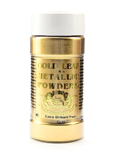 Gold Leaf & Metallic Co. Metallic and Mica Powders extra brilliant pale gold 2 oz.