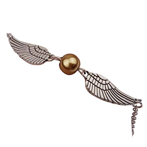 DENER Infinity Retro Pearl Angel Wings Jewelry Dove Peace Bracelet Alloy Chain Cuff Jewerly Bangle Bracelet (Gold)
