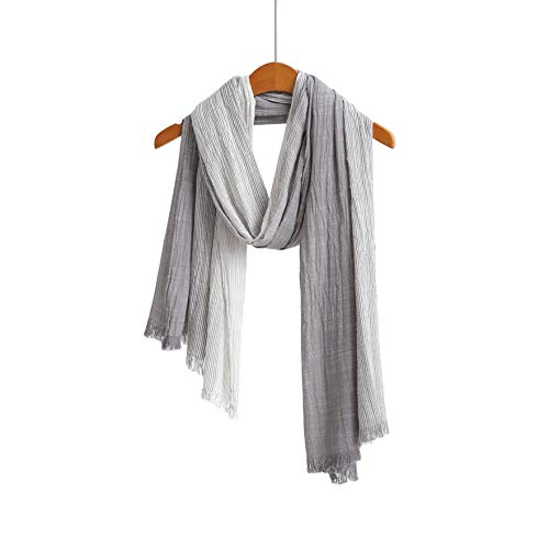 Cotton Scarf Shawl Wrap Soft Lightweight Scarves And Wraps For Men And Women (Grey 2)
