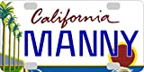 Personalized California Trees BICYCLE Large State License Plate Replica