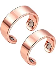 Blood Sugar Control Ring, Health Magnetic Therapy Ring, Magnetic Therapy Copper Energy Adjustable Ring, Regulate Your Body?s Sugar Circulation
