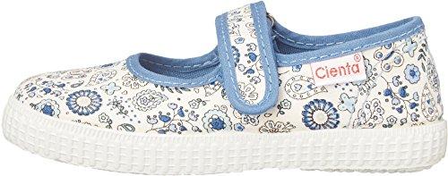 Cienta Kids Shoes Baby Girl's 56024 (Infant/Toddler/Little Kid/Big Kid) Blue Floral Flat 24 (US 7.5 Toddler) M