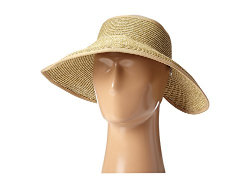 SCALA Women's Packable Paper Braid Visor, Toast, One Size