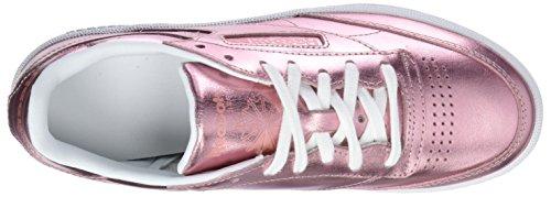 White Copper de Mujer 000 Club 85 Shine Zapatillas Rosa para Tenis Reebok S C BPwp7wYq