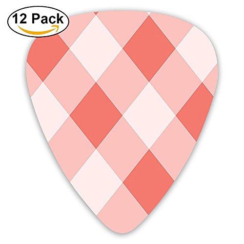 Newfood Ss Vintage Peach Echo Geometrical Mosaic Diagonal Fractal Tartan Bands Figure Guitar Picks 12/Pack Set ()