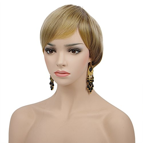 Hippie Girl Blonde Wig - Spretty Womens Short Dirty Blonde Wig Bob Style for Women Cosplay Party Costume