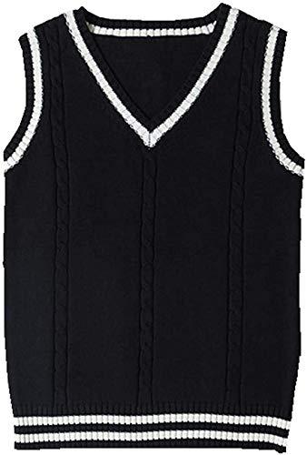 Vrouwen Mouwloze Tank Vesten Gebreide Truien Gilets Truien Cosplay Kostuum Klassieke School Leuke V-hals School Uniform…