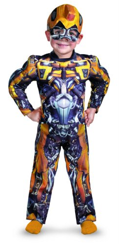 Transformers 3 Costumes (Bumblebee Toddler Muscle Costume - Small (2T))