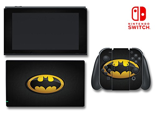 Batman Logo Symbol Bat Man Arkham Knight Video Game Vinyl Decal Skin Sticker Cover for Nintendo Switch Console System (Symbol Switch)