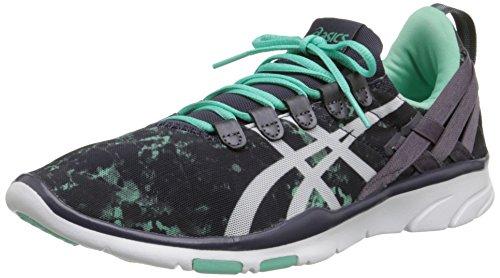 ASICS Women's GEL-Fit Sana Cross-Training Shoe, Black/White/Coral, 8 M US