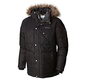 Columbia Men's Barlow Pass 550 TurboDown Quilted Jacket, Small, Black