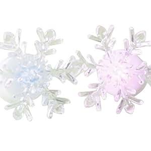 Sunshay Christmas LED Snowflake Changing Decoration Night Light Atmosphere Light,Colorful
