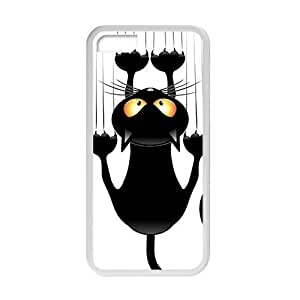 Cute Lovely Black Cat Cartoon Phone Case for iphone 6 4.7 inch