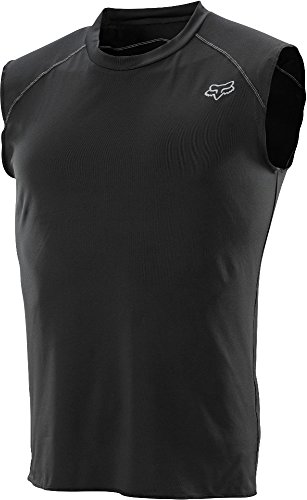 2014 Fox Racing First Layer Sleeveless Jersey (L, Black)