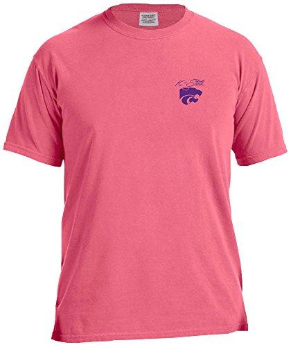 NCAA Kansas State Wildcats Marquee Comfort Color Short Sleeve T-Shirt, Crunch Berry,Crunchberry