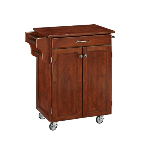 Create-a-Cart 2 Door Cabinet Kitchen Cart with Cherry Top by Home Styles