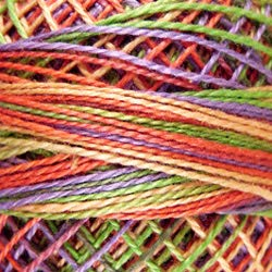 (Valdani Perle Cotton Size ~12~ Embroidery Thread, 109 Yard Ball - v21 Chimney Sparks (Variegated))