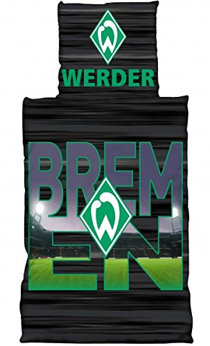 Werder Bremen Linon Bettwäsche Stadionbuchstaben 155x220 Cm