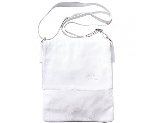 LaGaksta Ashley II Leather Crossbody Bag White