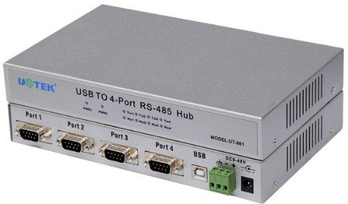 UTEK Optically Isolated 4-port USB to RS-485 by U-Tek