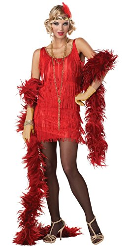 California Costumes Women's Fashion Flapper Costume,Black,Medium