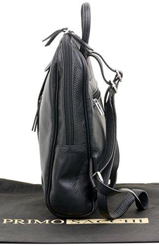 Branded Protective Storage Bag Sacchi Grab Bag Handbag Rucksac Black Shoulder Incudes Leather Primo Textured Backpack Italian Ladies OB46w7q6z