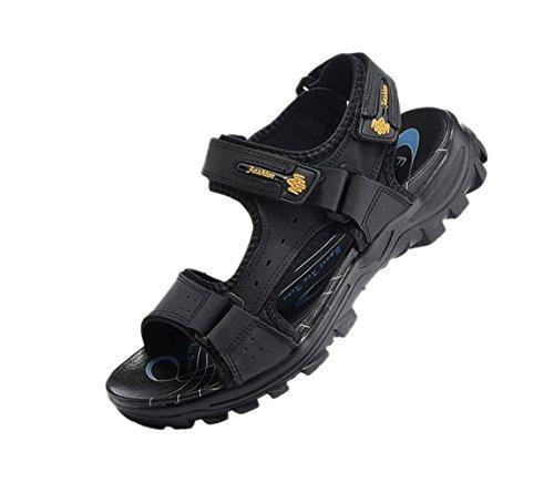 velcro verano y ajustable de correa SK con Las negras de de sandalias gladiador de exterior casual para Studio hombres f4wxqIRT
