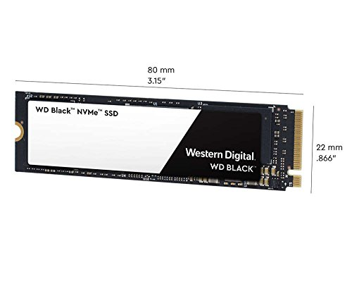 WD Black 500GB High-Performance NVMe PCIe M.2 2280 SSD - Gen3, 8 Gb/s - WDS500G2X0C