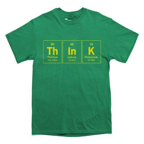 Rocket Factory Elements of Think Periodic Table T-shirt Men's Sizes Kelly Green Medium