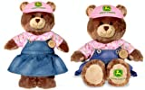 Build a Bear LTD John Deere Girl Teddy 16 inch Stuffed Plush Toy Animal JD Collection
