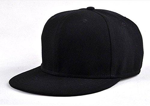583bcd2ca77 SYLAN Hip Hop Cotton Snapback Cap (Black