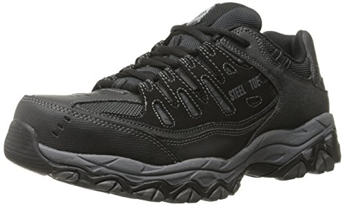 Skechers for Casual Steel Toe Work Sneaker, Black/Charcoal, 11.5 M US by Skechers