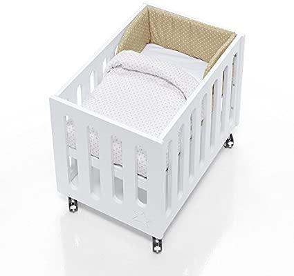 Alondra 658-202 - Saco minicuna de colecho bebé y colecho cama, color beige