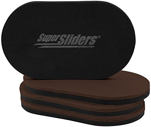 SuperSliders 4726595N Reusable XL Heavy Furniture Movers for Hardwood Floors- Felt Floor Protectors, 9-1/2