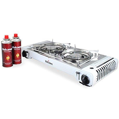 - Vulcanus LMSD-5800 Portable Double Burner Gas Stove.26