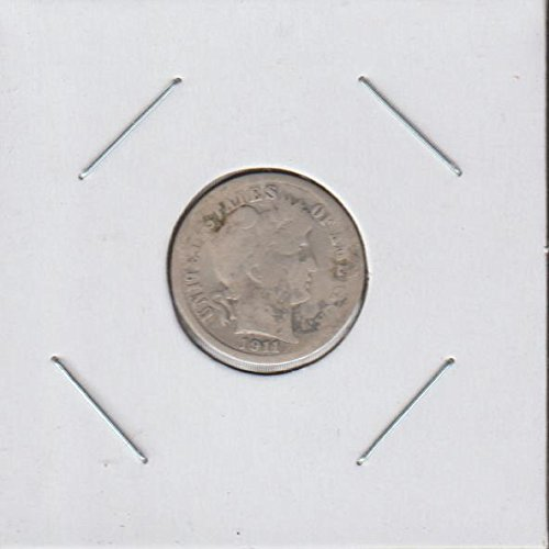 1911 S Barber or Liberty Head (1892-1916) Dime Good