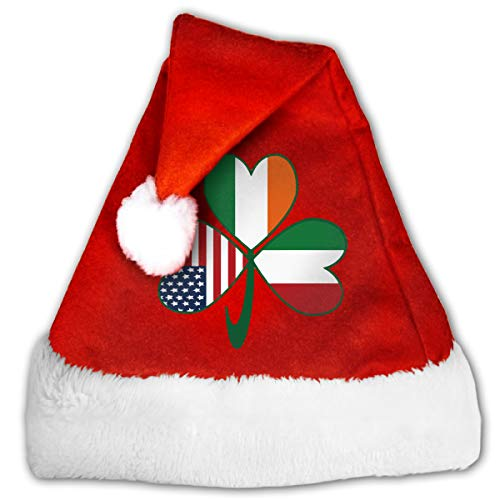 Italian Irish American Shamrock Christmas Hats Men & Women Warm Slouchy Cap