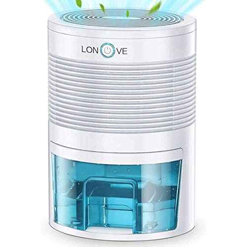 LONOVE Dehumidifier - 31 oz(900ml) Small Dehumidifiers for Home Bedroom Bathroom Basements Closet RV Room, 2200 Cubic Feet Full Auto-Off Portable Electric Mini Dehumidifier for Space Up to 190 sq ft