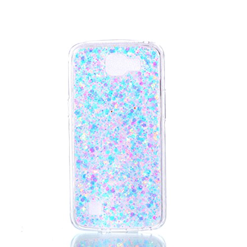 LG K4 LTE Case, LG Optimus Zone 3 Case, LG Spree Case, LG Rebel LTE Case, Love Sound [Scratch Resistant] Slim Glitter Bling Solid Acrylic Back & Soft TPU Frame Protective Case Cover - Light Purple (Rubber Purple Solid)