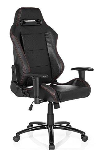 hjh OFFICE Silla Gaming/Silla de Oficina Silverstone II Piel sintética Negro