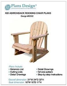 child adirondack rocking chair woodworking planstrace u0026 cut odf22