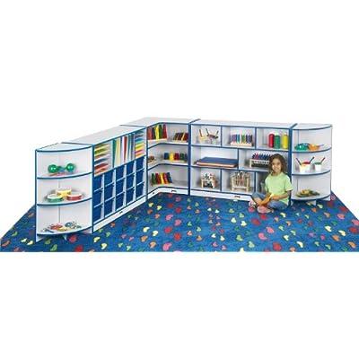 Rainbow Accents 6324JC112 Toddler Inside Corner Storage, Navy: Industrial & Scientific