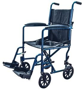 (ZCH9201BLEA - Transport Chair with Swing Away Foot Rest 19 Width, Aluminum, Blue)