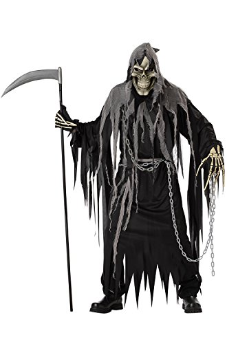 California Costumes Mr. Grim Costume, Black/Grey,One Size ()