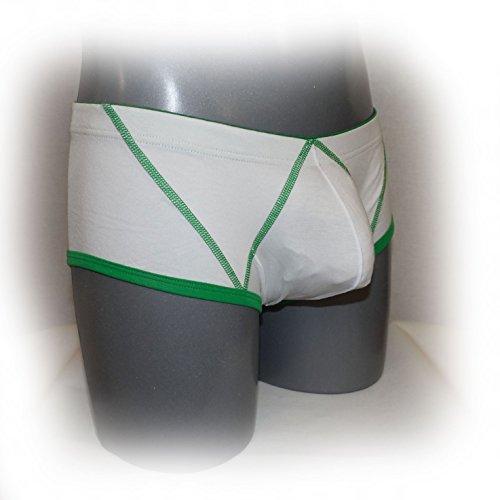 WJ–Boxer con cuciture di colore diverso bianco taglia L