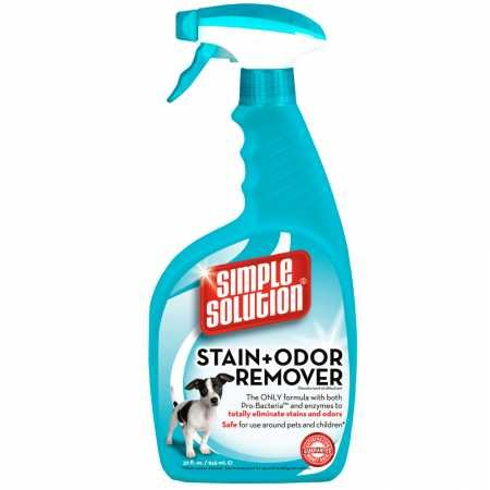Bramton Simple Carpet Solution (SIMPLE SOLUTION Stain Odor Remover for CATS DOGS (32 oz))