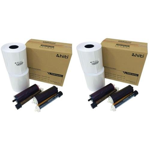 HiTi 2x 4x6'' Media for Photo Printer P520 & P520L, 500 Sheets to a Roll, 2 Rolls in a Box, 152x102mm by HiTi